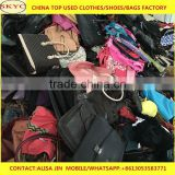 INquiry about second hand Real leather used bags School bags for Benin