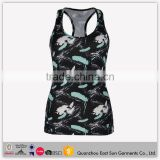 Custom Hot Sales Black Latest Design Girls Tank Top Breathable Yoga Wear Colorful Running Singlet For Ladies Summer