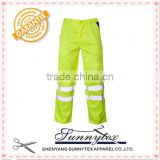 Online star product yellow colour reflective tape work pants