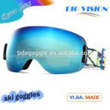 Frameless big vision pc full revo lens snow ski goggle hot selling winter soprts snow goggles
