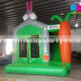 Rabbit theme inflatable combo with basketball hoop for kids