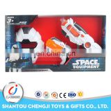 Funny plastic gun set electric space toy with sound and music