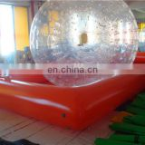 Commercial customized hamster ball inflatable pool toys with balls