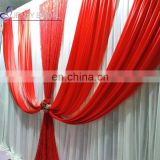 BCK142 red ice silk cloth photo studio church backdrops for wedding events