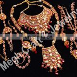 Designer Bridal Bollywood Fashion Jewelry-wholesale Bridal Kundan Jewelry-dulhan Set Wholesale-wedding Wear Ethnic Jewellery
