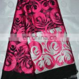 High quality african lace fabric/ cord lace/ french lace/ guipure lace/ cotton lace FL720 fuchsia