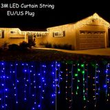 110 / 220V 3.5M LED Curtain String Light 0.3-0.5m Fairy Light for New year Holiday Wedding Party Home Christmas Light