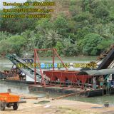Gold Mining Bucket Chain Dredger 100m³/h Simple Structure
