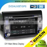 Erisin ES2700F 2 Din 7 inch Auto Radio Car DVD Player GPS for FIAT BRAVO