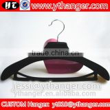 YY0455 boutique clothing brands black velvet men suit hanger with trousers bar