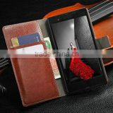 Latest design leather wallet phone case for sony z l36h , wallet case for sony z l36h