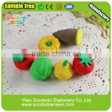 eco friendly stationery set hot sell food erasers