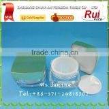 Plastic cosmetics face cream jar, empty acrylic container with cap, body cream acrylic jar