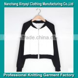 In the fall of the new female fashion leisure short coat black and white stitching fleece jacket dress