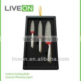2014 New Knives/ 3pcs Ceramic Kitchen Knife Set with Gift Box