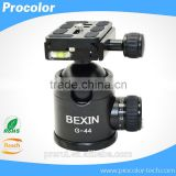 "High quality Aluminum Camera Tripod Ball Head Ballhead camera accessories for tripod with Quick Release Plate 1/4"" Screw"