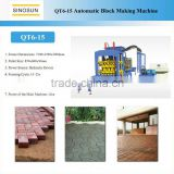 New-type QT6-15 brick macking machine