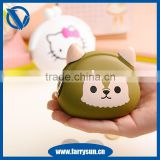 3D animal shaped leather coin purse,cheap coin purse
