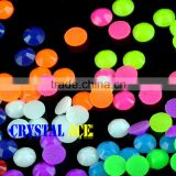 Fashion Round Full Color Flatback Neon Hotfix Stone, Hot Fix Jelly Rhinestone for Clothing Design