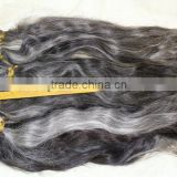 unprocessed virgin grey hair 100% grey human braid premature grey hair expression braiding hair                                                                         Quality Choice