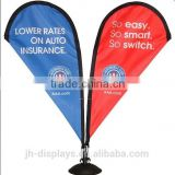 Double side top table mini teardrop banner