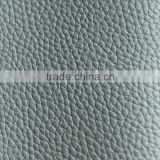 Thick car seat leather fabric flocked back with embossed litche pattern for sofa furniturer and shoes leather                                                                                                         Supplier's Choice