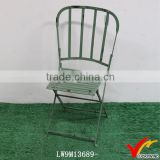 Used Looking Folding Vintage Outdoor Metal Chairs
