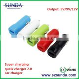 New release fashional design quick charge 2.0 car charger