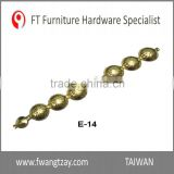 Taiwan Hardware Manufacturer Length: 1M x Nail's dia: 12mm Brass Furniture Metal Decorative Chair Nail