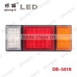 12V three lens three function super bright 2835 SMD long lifespan led tail light with iron plate