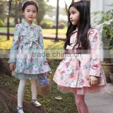 Pretty little girl korean style candy and fashion floral autumn baby clothing wholesale baby clothes(Ulik-A0398)