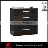 4 Drawer Chest of Drawers High Gloss Black Bedroom Living Room Furniture