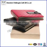 Multicolor High Quality leather cd case wallet with string
