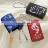 mini metal pocket ashtray keychain