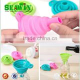 coloful silicone foldable funnel collapsible funnel