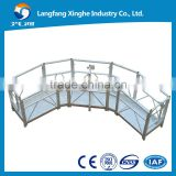 halr circle hot galvanized / aluminium alloy electric platform / lifting powered cradle for special building