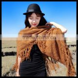 2014 Winter infinity tassel scarf made from knitted fabric soft and cute great accessory - Black Friday Great Gift
