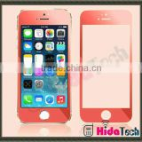 front and back colorful tempered glass screen protector for iPhone 4s