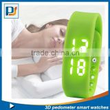 usb wrist brand watch/heart rate pedometer watch/pedometer steps calories burned USB bracelet