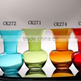 Small colored glass flower Vases Art Glass Collection Vase