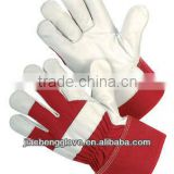 JS201CAR/N Cowhide Leather Palm Glove, Cotton Back Glove,Safety Glove, Leather Working Gloves