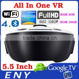 Newest ENY Brand EVR02 All In One VR Glasses 3D VR Box Virtual Reality Head mount Glasses tv box