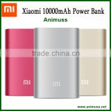 Original aluminum fast charging emergency USB 10000mah xiaomi battery Backup power bank Charger with cable for android mobile