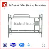 Low Cost Comfortable Adult Queen Size Double-decker Metal Bunk Bed Frame