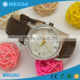 Top sell trendy design leather strap japan movt details quartz watches