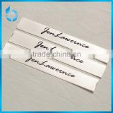 Woven satin ribbon printed clothing labels custom printed labels of acrylic fleecy infant's blouse