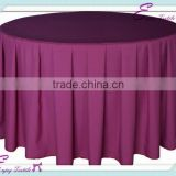 YHT#13 pleats round plain dyed polyester banquet wedding wholesale cheap table cloth cover linen                                                                         Quality Choice