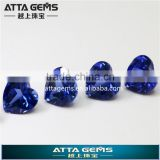 wholesale synthetic blue sapphire price - created corundum loose gemstone for fashion jewelry