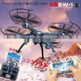 X5SW FPV Aerial Photography Remotrol Control Wifi Quandcopter 2.4Ghz Professional RC toy Drone with hd Camera
