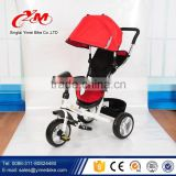 Lightweight folding baby tricycle / Factory Outlet kids tricycle 2016 new design / plastic tricycle baby stroller tricycle